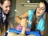 Twin Sisters Betting which Boyfriend have a Bigger Cock