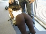 She Should Be More Careful When She Goes In Gym Full With Horny Builders