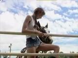 Little Girl Loves Horses So Much