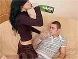Teen Tricked Into Drinking Alcohol And Then Easily Fucked