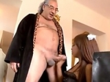 French Maid Sexually Used By Dirty Old Boss