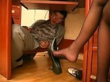 Mom Caught Me Hiding Under Desk Spying at Her Pantyhose