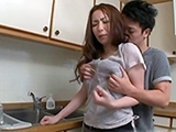 Japanese Housewife Attacked And Fucked In The Kitchen