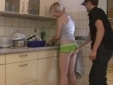 Grabbing Brothers Wife For Ass While She Washing Dishes Was NOT Best Idea