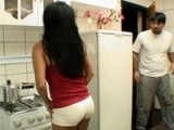 Intruder Brutally Fucked Latina MILF Anal In Kitchen