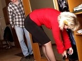 Desperate For Pussy Boy Sneaked Up From Behind And Attacked His StepMom!