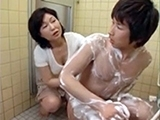 Japanese Mom Insist To Help Me Wash My Back