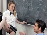 Slutty Schoolgirl Fucks Her Teacher For Better Grades