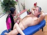 Perverted Old Man Gets A Happy Ending Massage