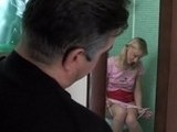 Older Perv Spying On Daughters Best Friend Peeing In His Bathroom