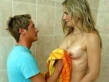 My Daddy Wasn't Home So I Bring Towel To Her New Fiance Under Shower