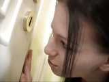 Sis Spying On Her Elder Sister Fucking In A Kitchen