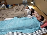 Japanese Wife Gets Fucked Next To Sleeping Cousin