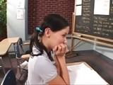 Horny Stud Teacher Guides Innocent Girl