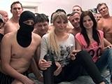Naive Sisters Fuck In A GangBang Orgy