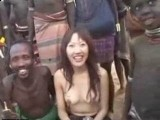 Japanese Girl Have Unsecured Sex With African Tribe Member