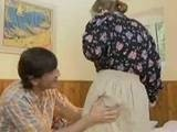 Boy Surprised Mature Granny when Grab her for Ass