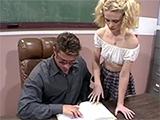 Teen Schoolgirl Makes Her Teacher Eager For Her Pussy