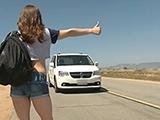 Hitchhiker Girl Fucks Stranger For A Ride Home