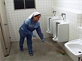 Hospital Toilet Cleaner Gets Fucked By Horny Patient