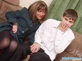 Young Shy Boy Amazed With Girlfriend's Mom Immodesty