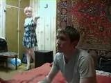 Girlfriends Mom Enters in the Room while Boy Watching Porn on TV
