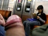 Maniac Show His Cock To Young Japanese Girl In Subway