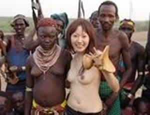African Tribe Members Gave Unforgotten Welcoming To Japanese Teen Girl