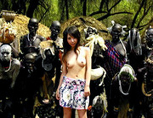 Asian Girl Fucked Hard In African Village