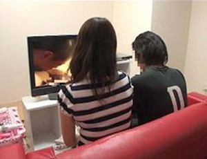 Japanese Mom and Boy Watching Porn Together